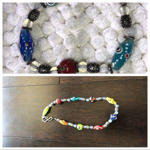 Glass Evil Eye Bracelet/Necklace